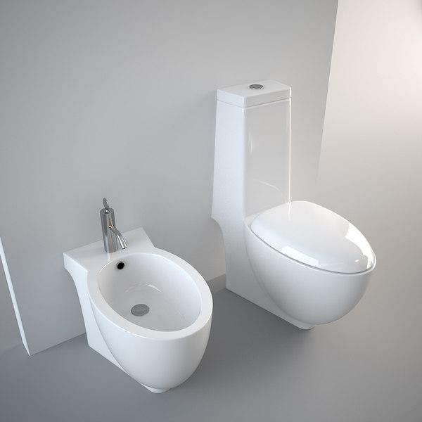 toilet design bidet 3d model on Model Toilet Design  id=46003