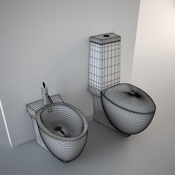 toilet design bidet 3d model on Model Toilet Design  id=52227