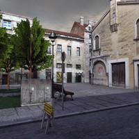 3d model residential buildings world