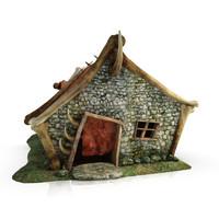 orc blacksmith fantasy building 3d 3ds