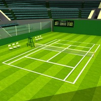 3d wimbledon tennis stadium model