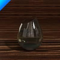 3ds glass vase