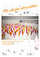 3d 100 people silhouettes sketchup