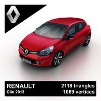 3d model 2013 renault clio hatchback