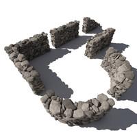 Stone - Rock Wall 6 - Grey 3D Rock Wall