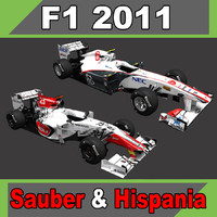 2011 sauber c30 hispania 3d max