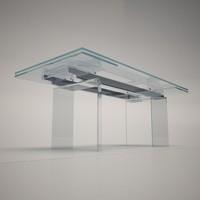 3d max cattelan italia delta dining table