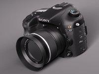 sony alpha 77 photo camera 3d max