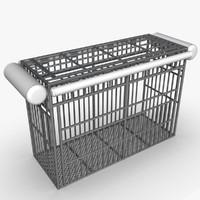 shark cage 3d model