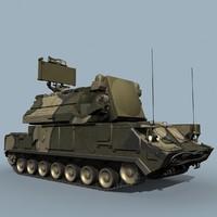 russian tor-m2 sa-15 missiles 3d model
