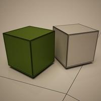 3d model kubo stool cattelan italia