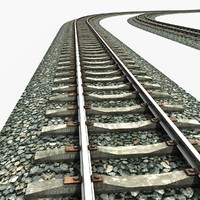 railway rail 3d obj