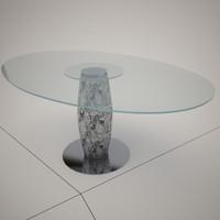 3ds max cattelan italia loto dining table