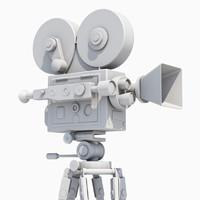 3d model film movie camera