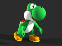 3d yoshi video character model