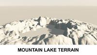3d Terrain Mountain Lake
