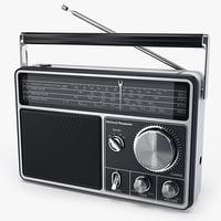 radio national panasonic rf1090 3d model
