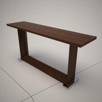 dwg cattelan italia monaco console table