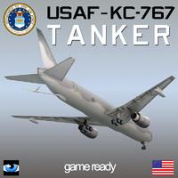 kc-767 usaf tanker 3d max