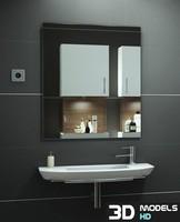 3d washbasin mentalray model