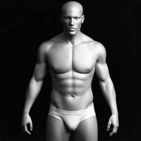 Realistic Male Body - High Polygon Mesh