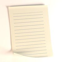 3d model paper sheet