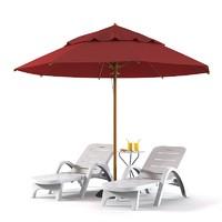 3d beach set sun model