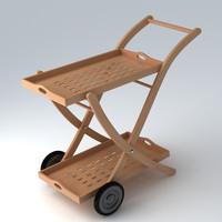 garden trolley 3d max