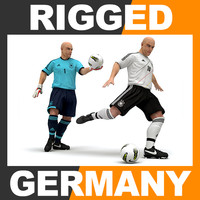 3d model rigged football player -