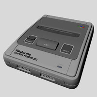 3d nintendo super famicom model