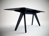 3ds max slab dining table