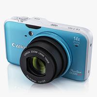 3ds max digital camera canon powershot