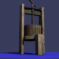 Antique wine  press