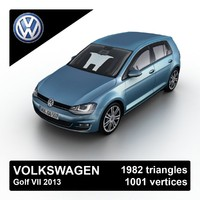 2013 volkswagen golf vii 3ds