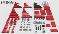 3dsmax 116 lego bricks