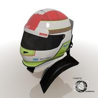 2012 helmet sergio perez 3d obj