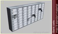 bank safe deposit 3d model