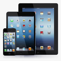 3d apple iphone ipad