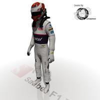 sauber driver kamui kobayashi 3d model