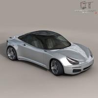 Electric concept sports car