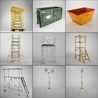 3d model of industrial working set