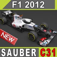 3d sauber c31 car