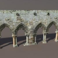 Castle Ruin #1 Low poly 3d Model