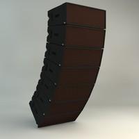 c4d martin line array speaker