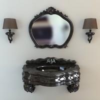 3d model basin mirror