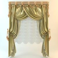 curtain elegant 3d 3ds