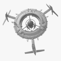 Large SciFi Space Station
