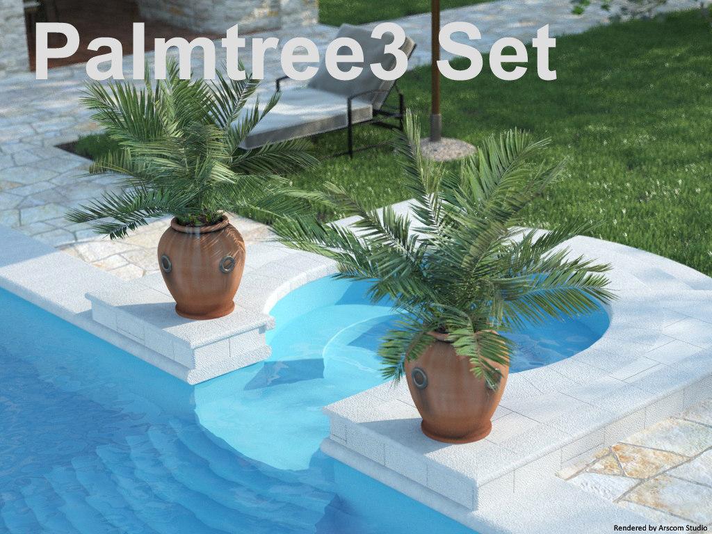 3ds palm tree palmtree set