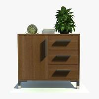 sienna small cabinet 3d obj