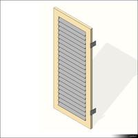 3d window shutter slat